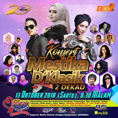 Konsert Mestika D'Klasik 2 DEKAD di Temasya Sehati @ RTM