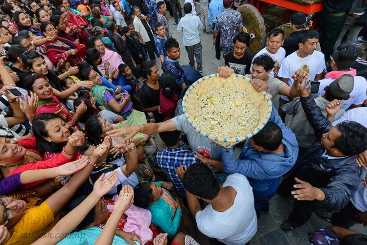 samay, baji, prasad, food, jatra, festival, indra