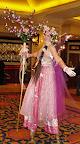 Pink Fairy on stilts