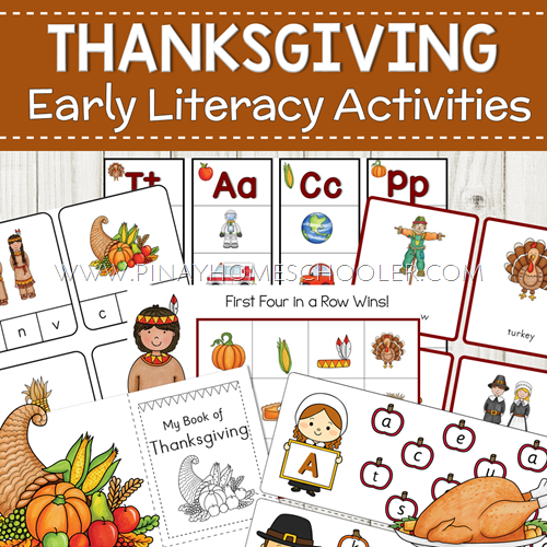 Thanksgiving Themed Preschool Literacy Pack