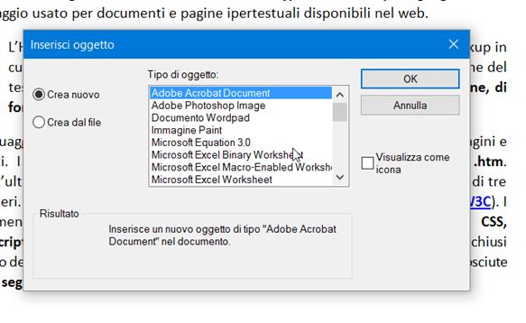 creare-oggetto-wordpad