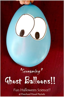 screaming ghost balloons
