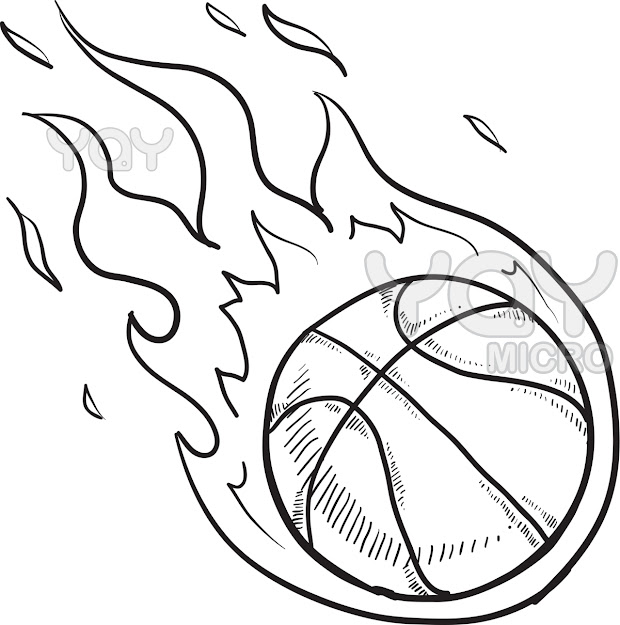 Basketball Coloring Page Pages