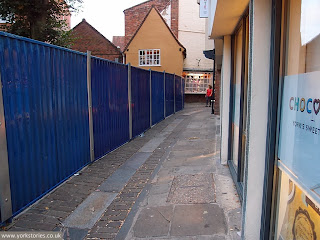 September 2013: with 'reinvigorating' beginning behind the fencing. Innocent paving slabs are being needlessly broken in there, and they maybe don't want us to see ...