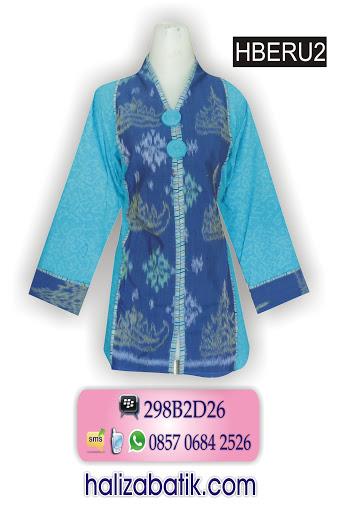 baju batik wanita, model batik terbaru, model batik