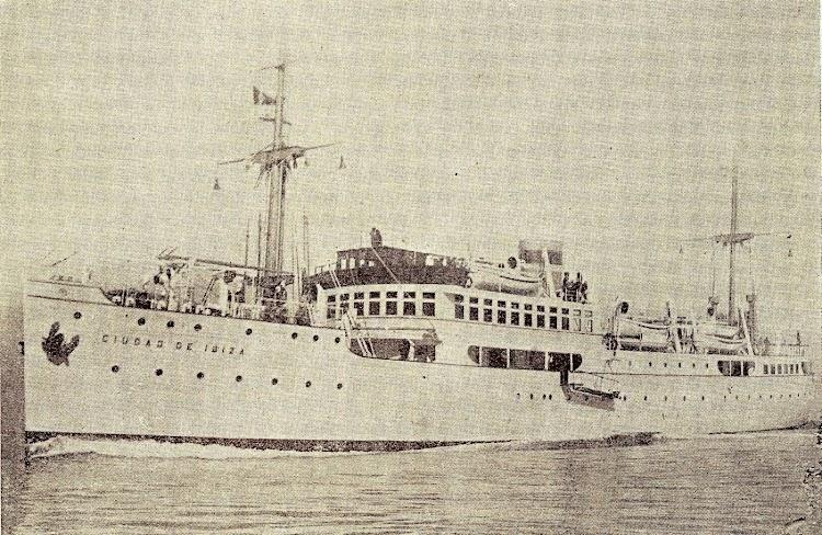 2-El CIUDAD DE IBIZA en pruebas. Foto del libro Union Naval de Levante. 1924 1949.jpg