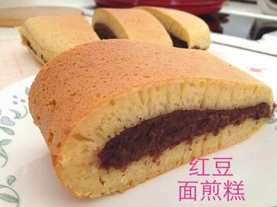 My Mind Patch: Happycall Pancake with Red Bean Paste 红豆面煎糕
