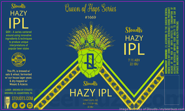 Stoudts Hazy IPL Coming To Queen Of Hops Series (#1669) Cans