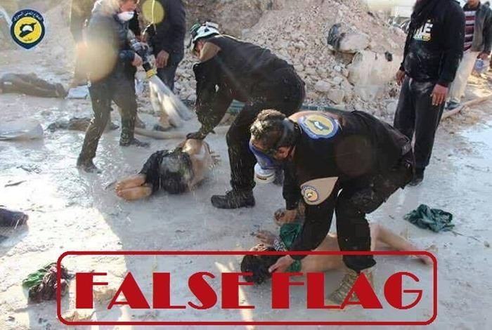 Ataque com armas químicas na Síria é exposto como bandeira falsa