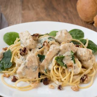 Creamy Chicken Gorgonzola Pasta Sauce.