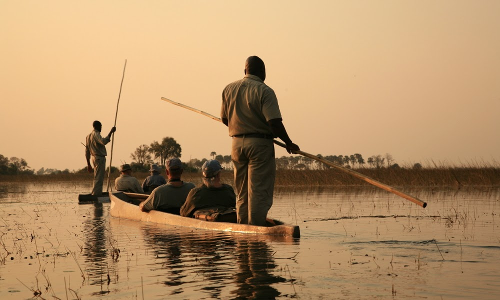 A Mokoro safari is the highlight of any visit to the Delta.