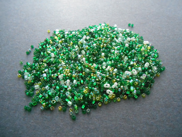Green Seed Bead Soup