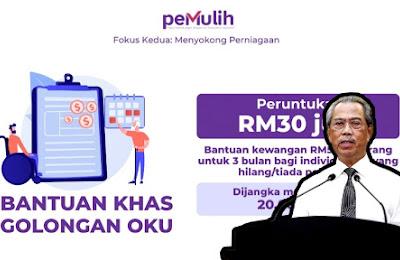 PEMULIH : Bantuan RM500 Selama 3 Bulan Untuk OKU