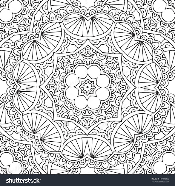 Coloring Pages For Adults Coloring Hand Drawn Doodle Nature Ornamental  Mandala Vector