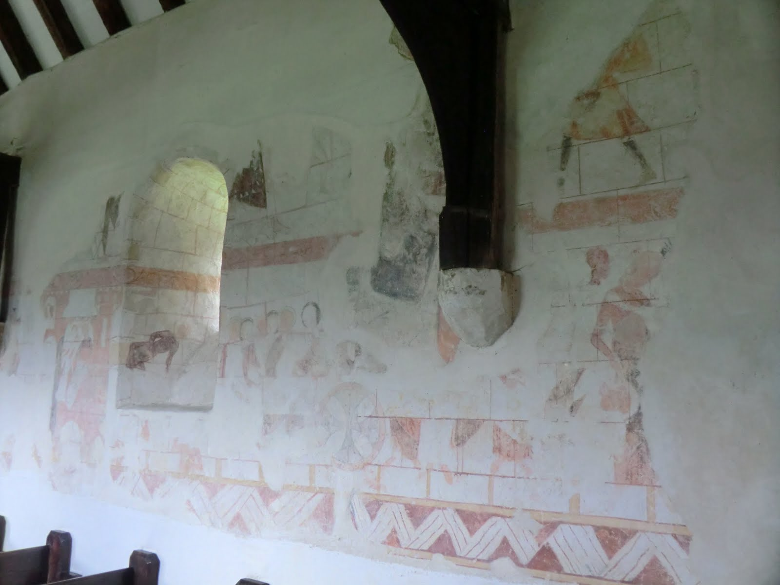 CIMG1604 Wall painting, Capel church