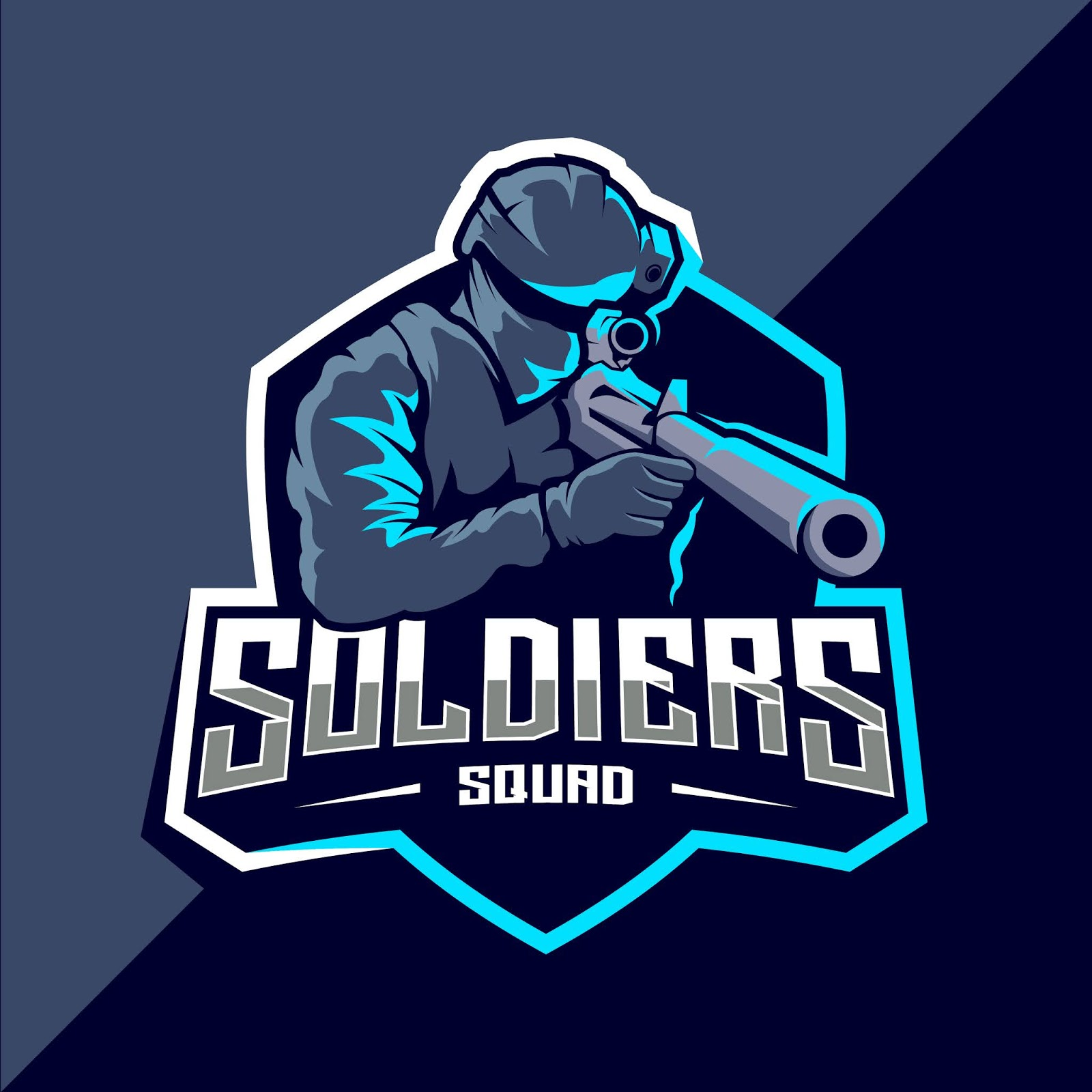 Soldier Mascot Esport Logo Free Download Vector CDR, AI, EPS and PNG Formats