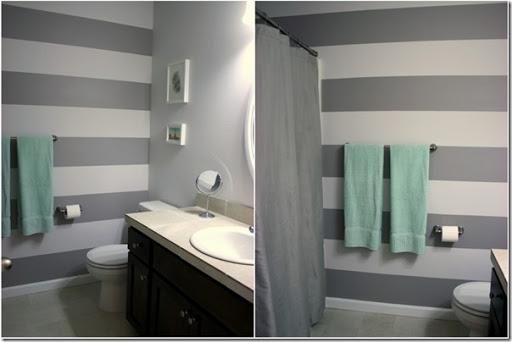 Pareti A Righe Grigie : Decorare le pareti con strisce dipinte case e interni