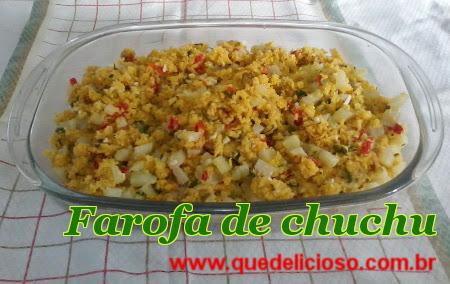 Farofa de chuchu