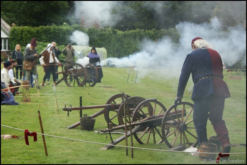Gunnery at the Lullingstone Castle medieval weekend