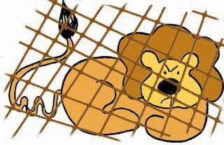 El león apresado por el labrador