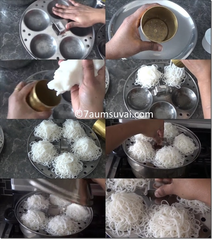 idiyappam using rice flour