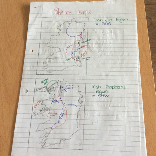 Sketch Map Of Ireland.Geography Sketch Map Of Regions