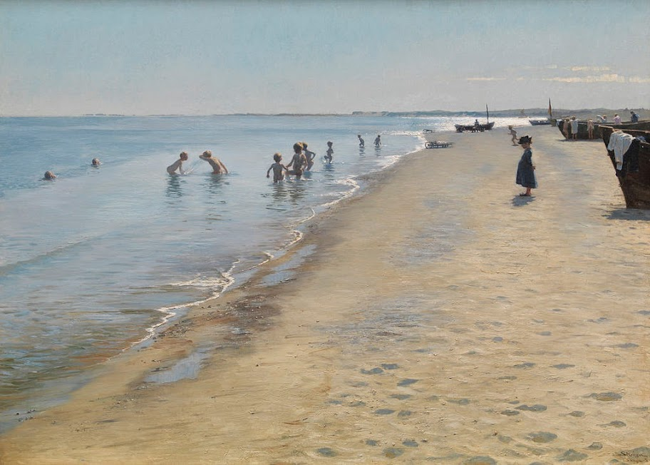 Peder Severin Krøyer - Summer Day at Skagen South Beach