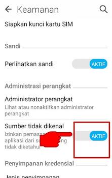 cara atasi tidak bisa install aplikasi dari luar playstore