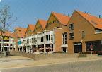 Leusden. Winkelcentrum Hamershof met AMRO bank.   Gelopen gestempeld in 1967.