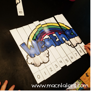 Weather Themed Number Puzzles