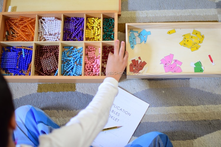 Montessori Coloured Beads:  How We Use It At Home