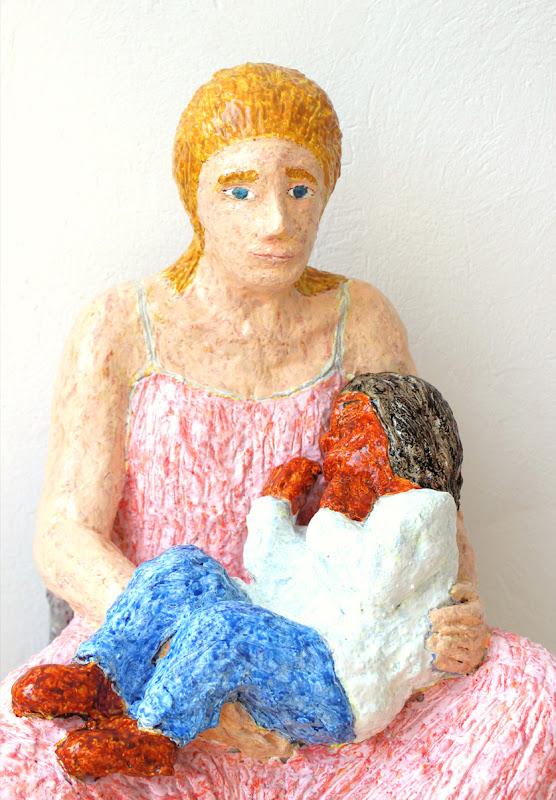 detail 3 of mare de déu amb el nen dormint ~ frank waaldijk
