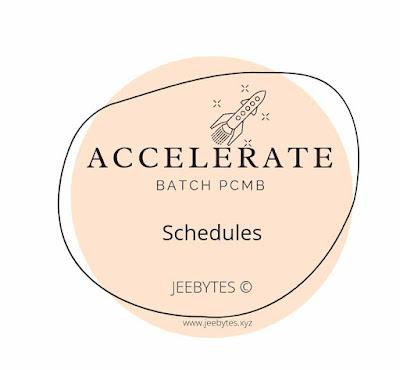 Accelerate Batch Lecture Plans