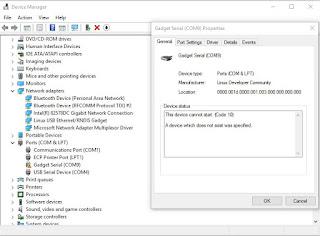 BBBlue Gadget Serial Driver fails Windows 10 - Google Groups