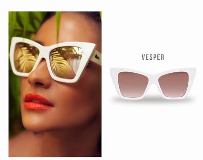 Quay x Shay Mitchell Vesper White Cat Eye Vintage Retro Sunglasses