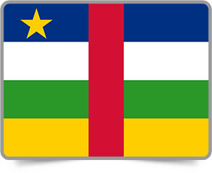 Central African framed flag icons with box shadow