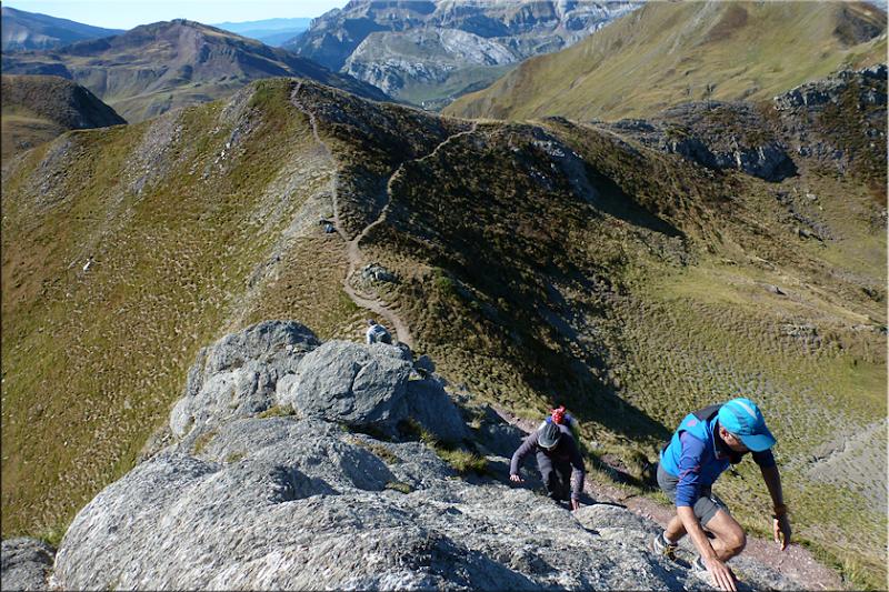 Trepada final al Pic des Moines / Pico de los Monjes