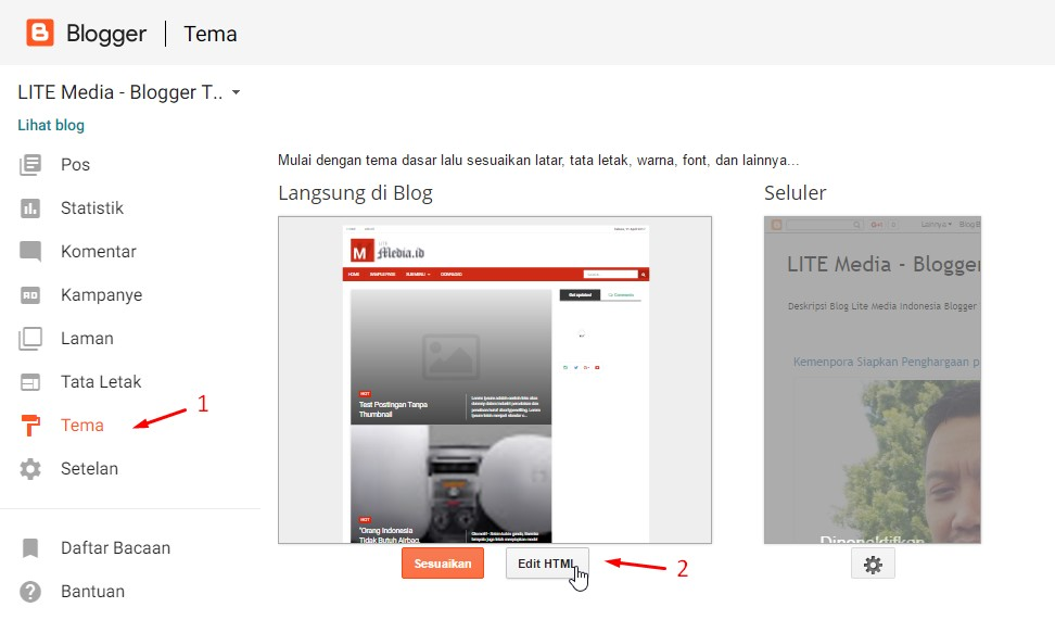 Dokumentasi : LITE Media - Premium Blogger Template - Penyedia Template Website SEO Friendly - Indonesia