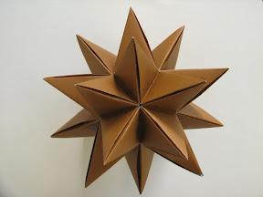 "Icosahedral Star made from Star Modules on Pg 74 of Miyuki Kawamura's ""Polyhedron Origami for Beginners"""