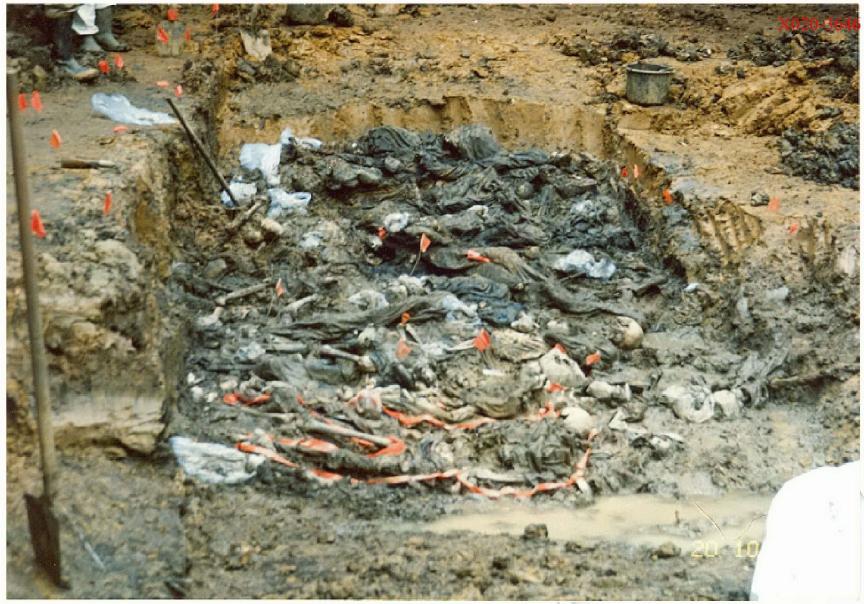 Srebrenica massacre: Budak mass grave, Kamenica 9, where some of 8,372 ...