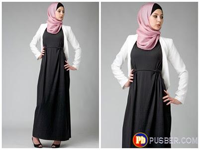 Model Dress Muslimah Terbaru Untuk Ke Kantor