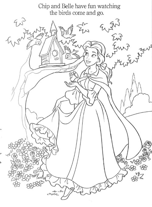 Belle Disney Princess Coloring Pages Printable All Round Hobby
