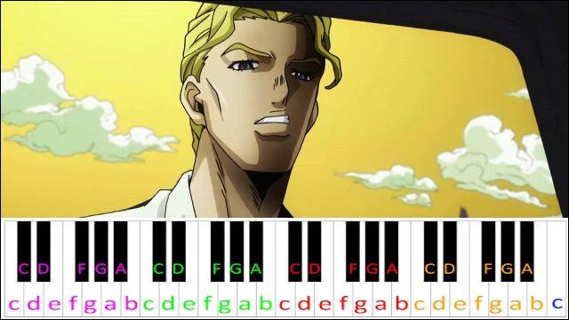 Yoshikage Kira Theme Piano Letter Notes