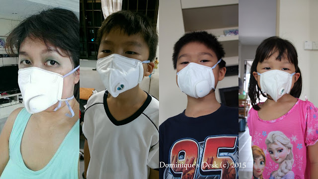 The kids and me wearing the Air+ Smart Mask