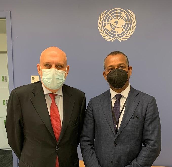 El representante del Frente Polisario en la ONU se reúne con el nuevo jefe de la MINURSO.