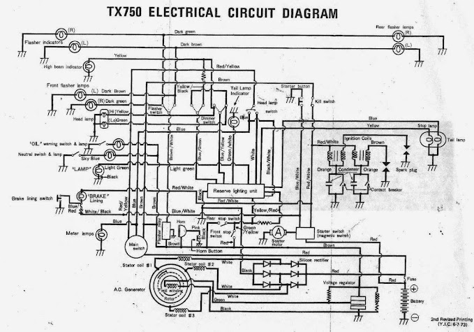 electrical diagrams yamaha tx750 forum electrical circuit diagram