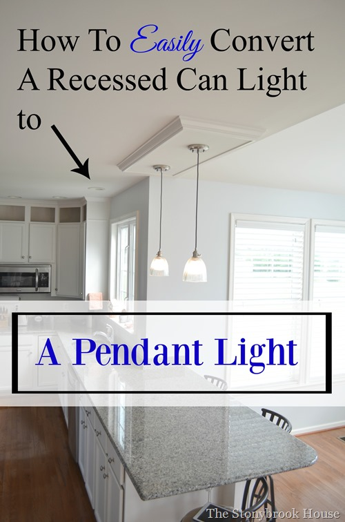 How to easily convert a recessed can light to a pendant light the convert a can light aloadofball Gallery