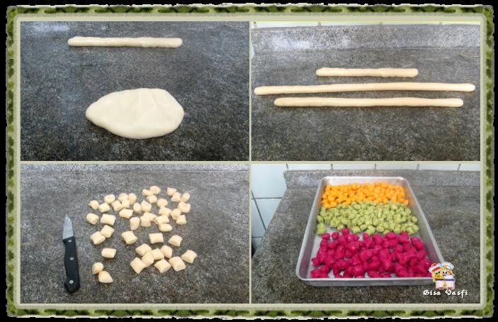 Nhoque de batata colorido 5