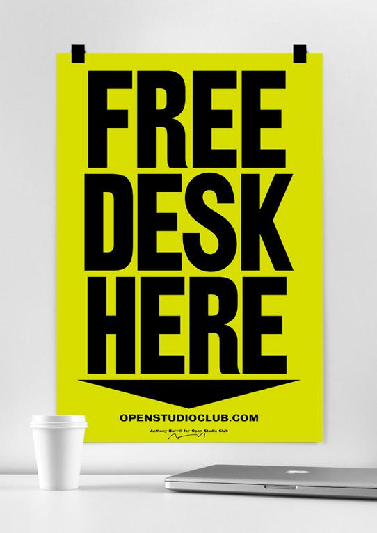 *FREE DESK HERE免費工作室辦公桌:在這裡! 1