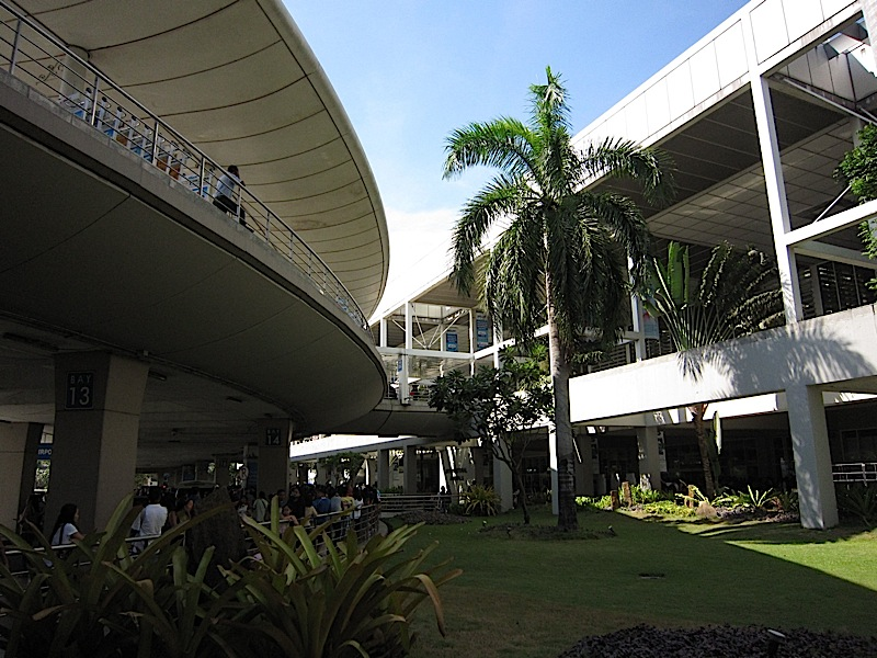 outside the Centennial Terminal of the Ninoy Aquino International Airport